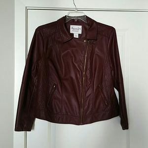 American Rag Faux Leather Moto Jacket